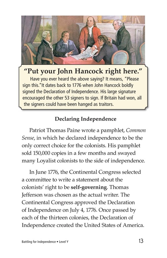 Book Preview For Battling for Independence Page 13