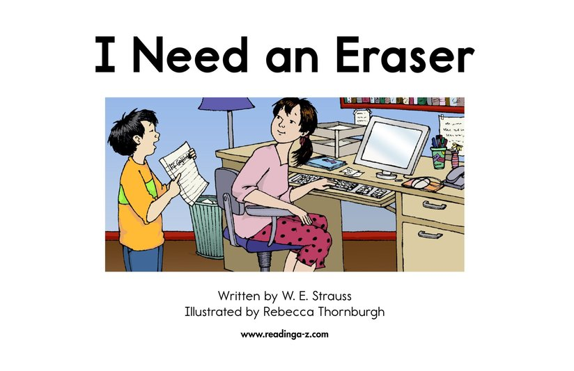 Book Preview For I Need An Eraser Page 2