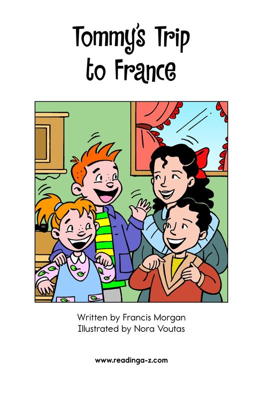 Book Preview For Tommy's Trip to France Page 2