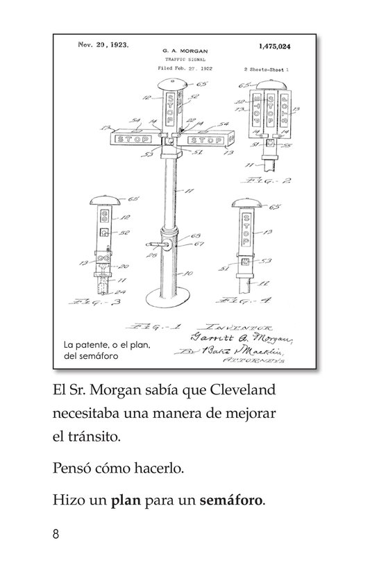 Book Preview For Garrett Morgan and the Traffic Signal Page 8