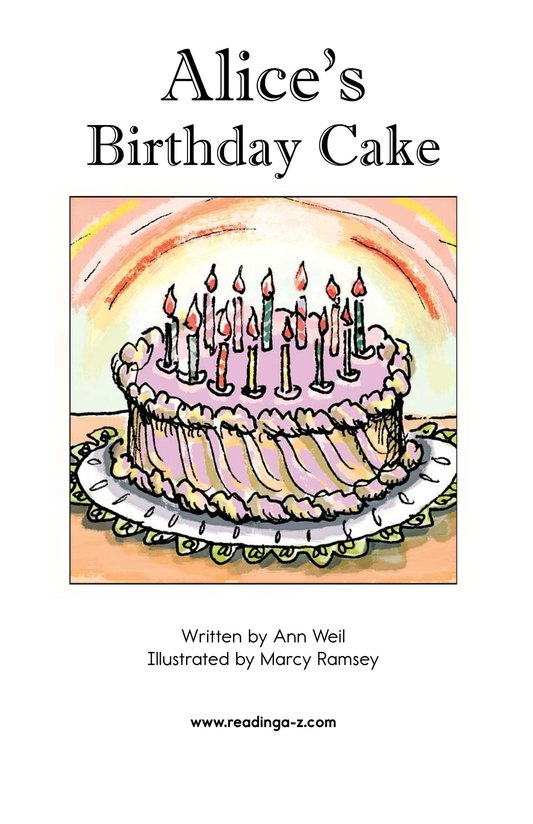 Book Preview For Alice's Birthday Cake Page 2