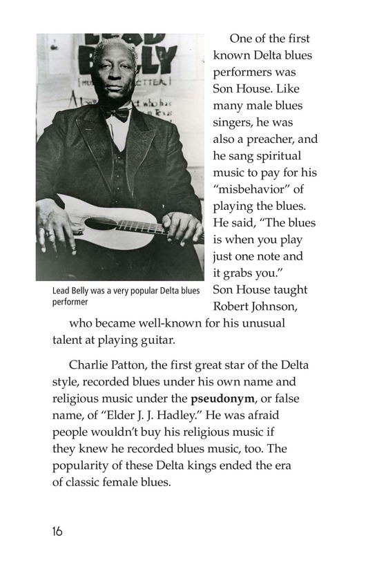 Book Preview For The Blues: More Than A Feeling Page 16