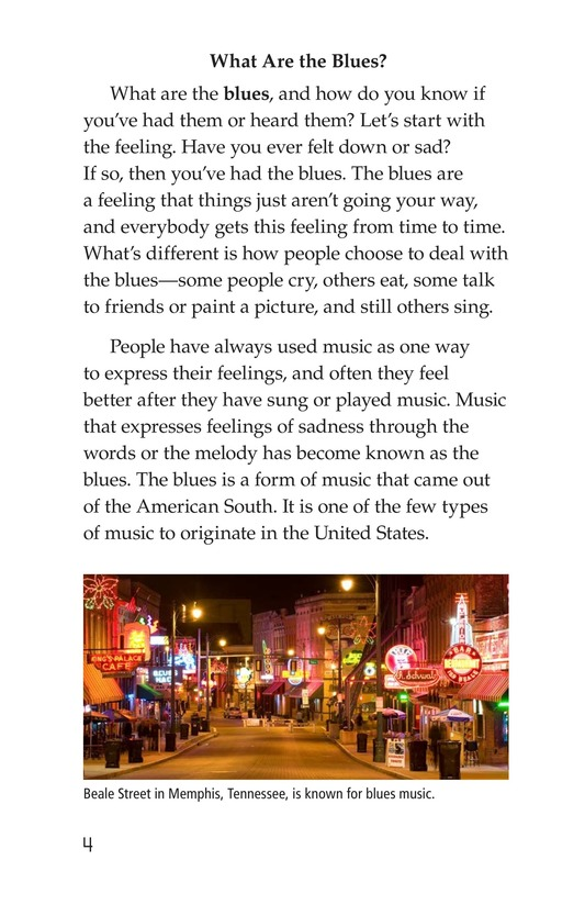 Book Preview For The Blues: More Than A Feeling Page 4
