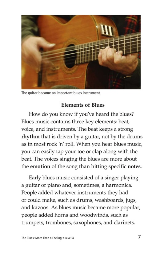 Book Preview For The Blues: More Than A Feeling Page 7