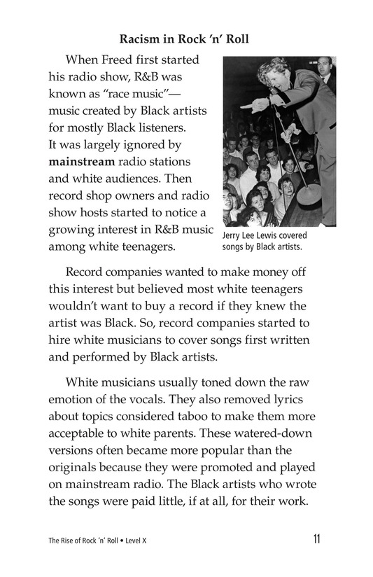 Book Preview For Early Moments in Rock Music History Page 11