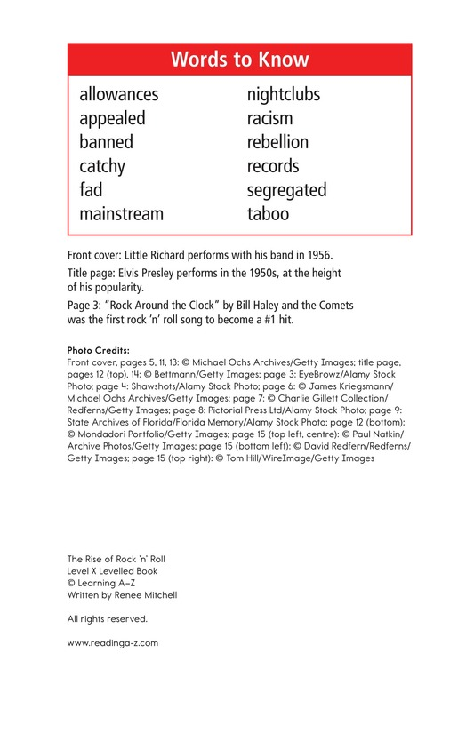 Book Preview For Early Moments in Rock Music History Page 17