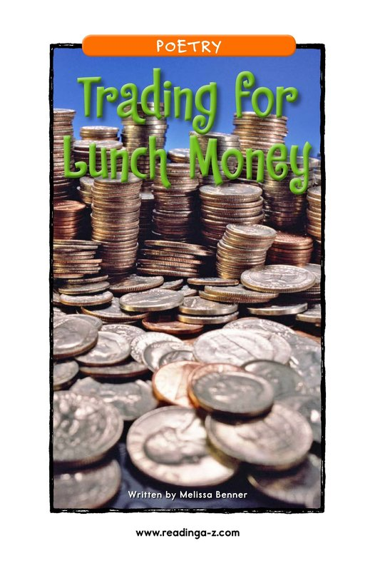 Book Preview For Trading for Lunch Money Page 1