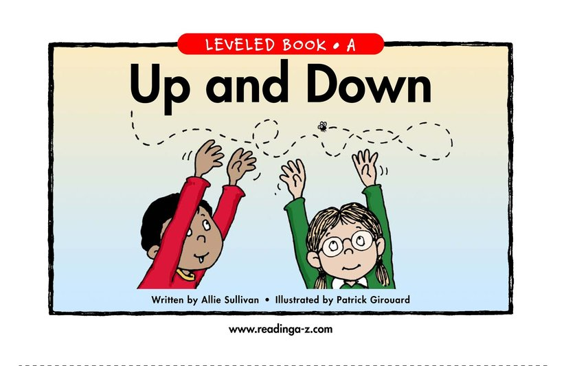 Book Preview For Up and Down Page 1