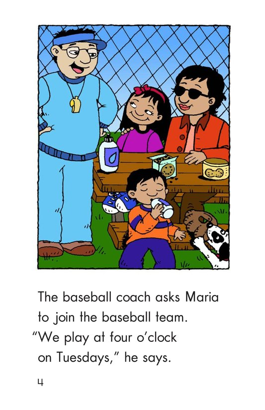 Book Preview For Maria Joins the Team Page 4