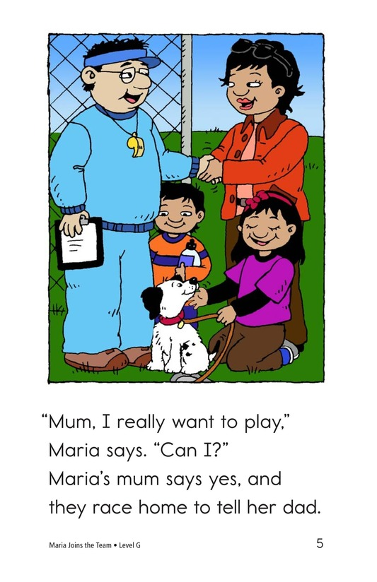 Book Preview For Maria Joins the Team Page 5