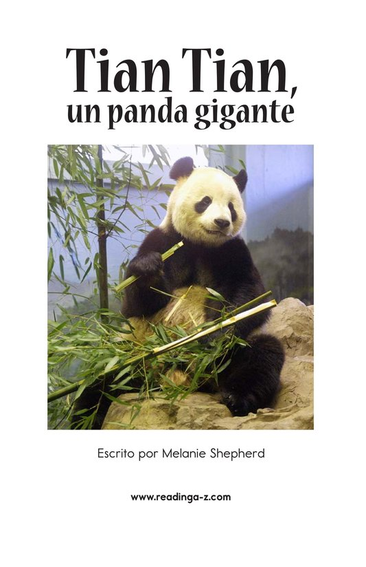 Book Preview For Tian Tian, a Giant Panda Page 2