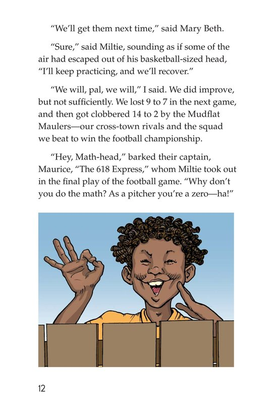 Book Preview For Miltie Math-head Takes the Mound Page 12