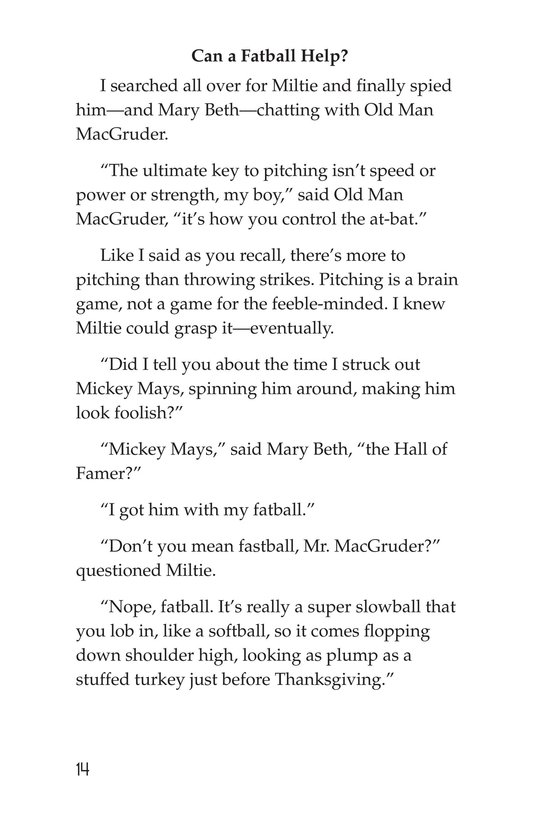 Book Preview For Miltie Math-head Takes the Mound Page 14