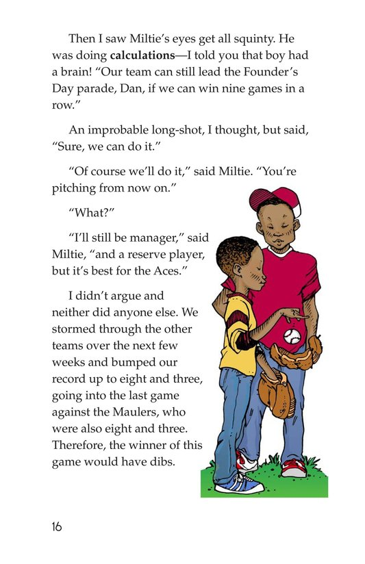 Book Preview For Miltie Math-head Takes the Mound Page 16