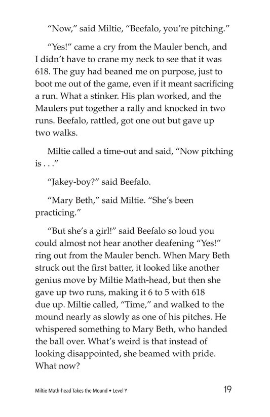 Book Preview For Miltie Math-head Takes the Mound Page 19