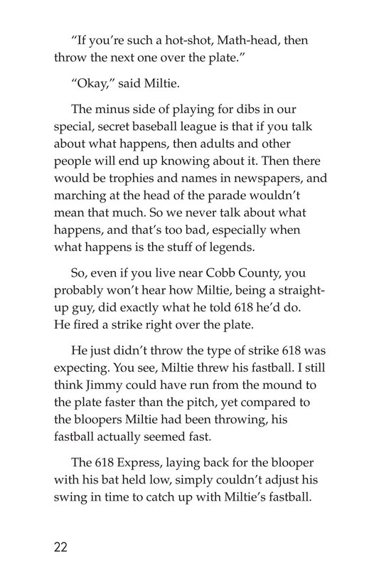 Book Preview For Miltie Math-head Takes the Mound Page 22