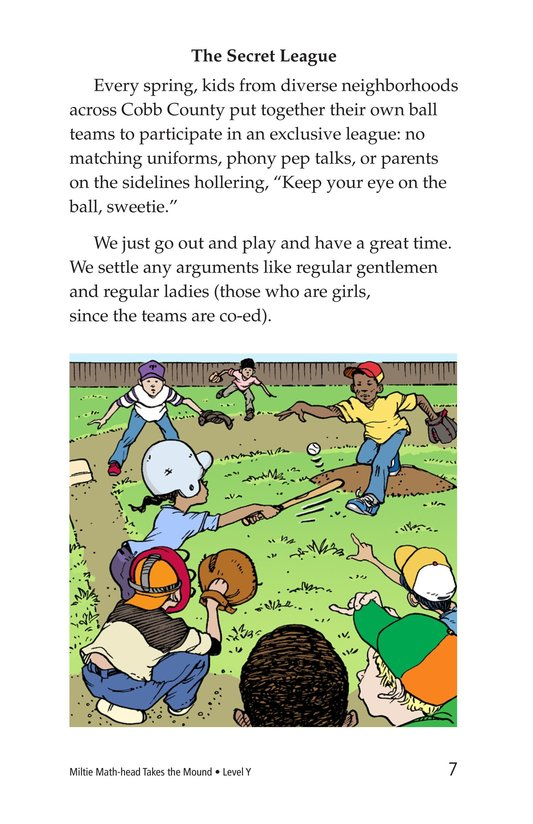 Book Preview For Miltie Math-head Takes the Mound Page 7