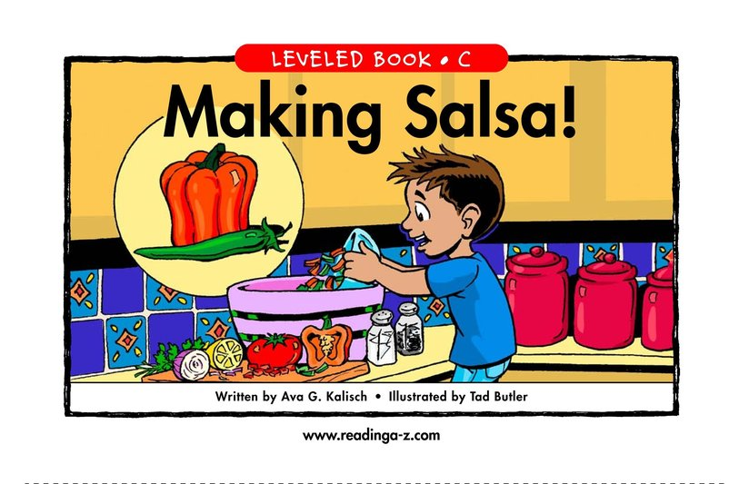 Book Preview For Making Salsa! Page 1