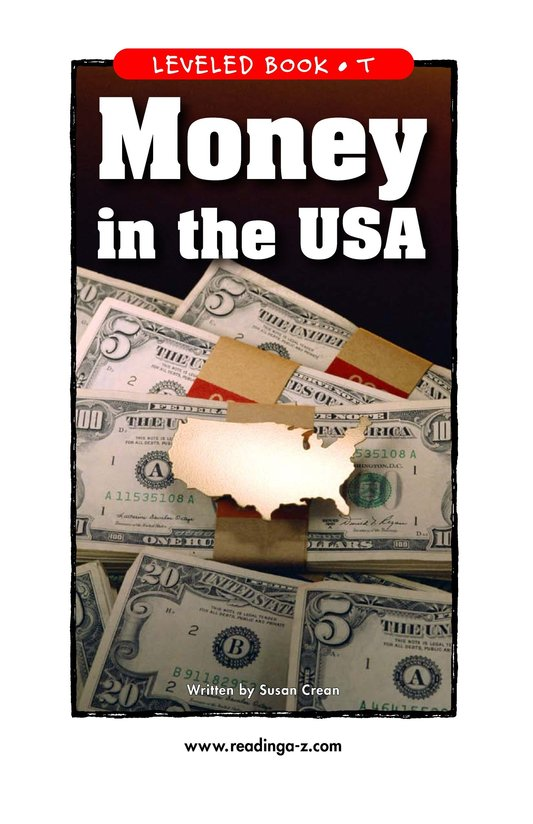 Book Preview For Money in the USA Page 1