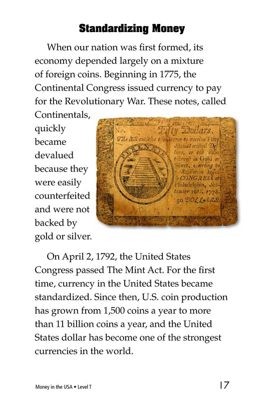Book Preview For Money in the USA Page 17