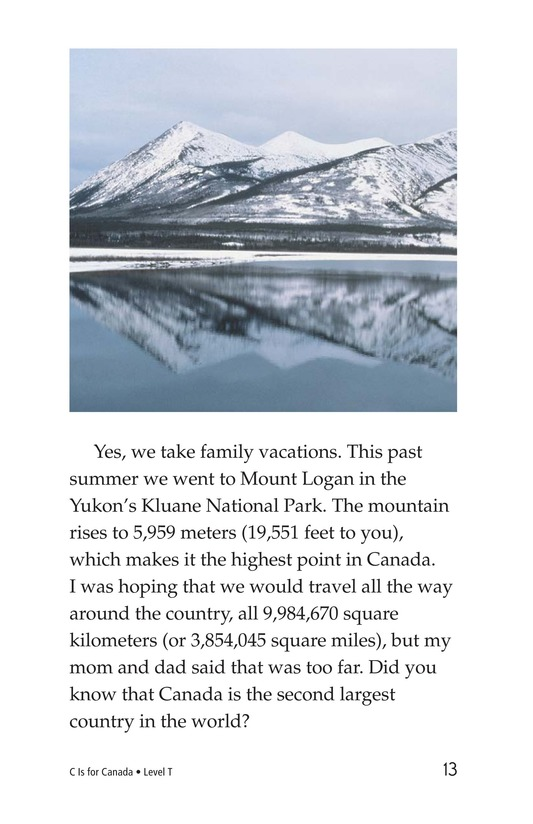 Book Preview For C Is for Canada Page 13