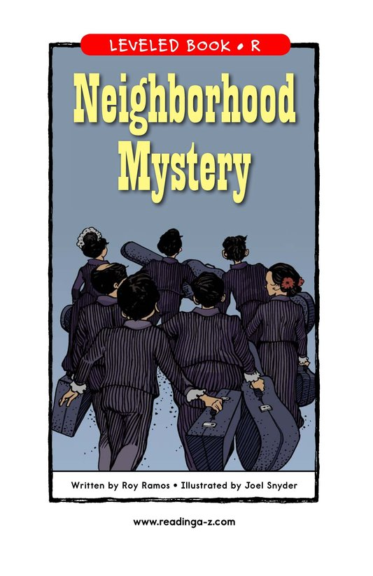Book Preview For Neighborhood Mystery Page 1