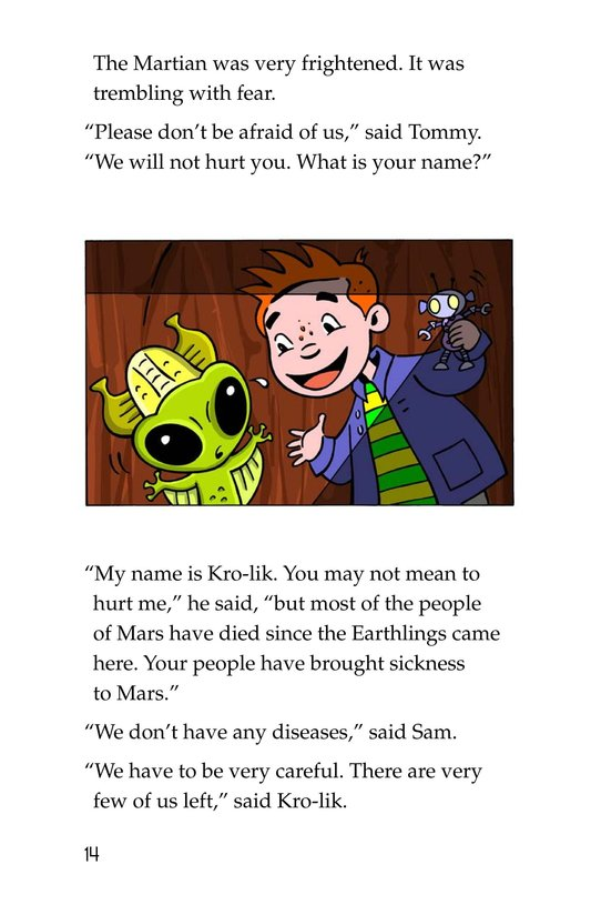 Book Preview For Tommy Goes to Mars Page 14