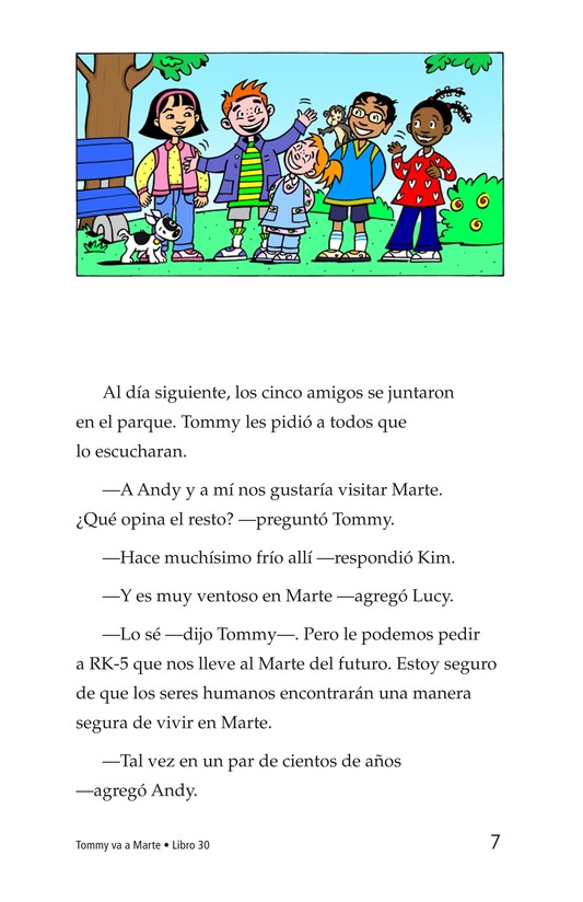 Book Preview For Tommy Goes to Mars Page 7