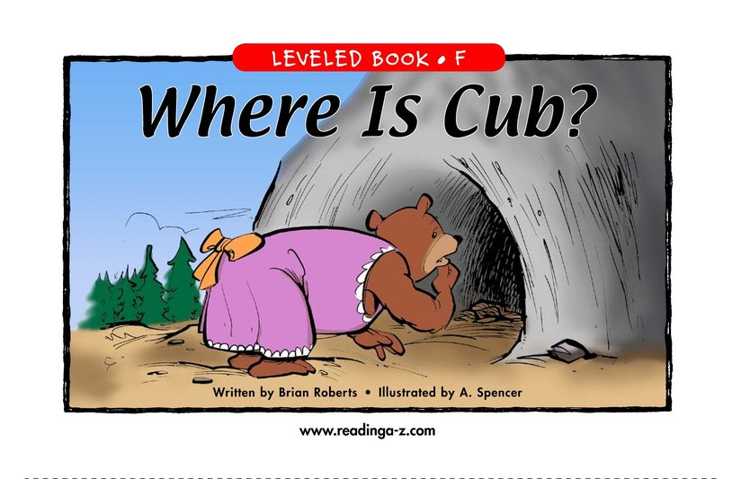 Book Preview For Where Is Cub? Page 1