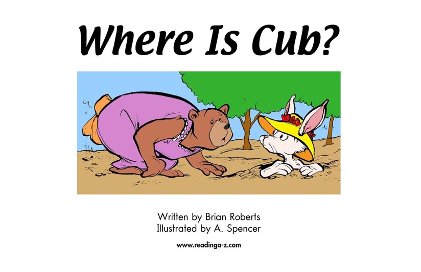 Book Preview For Where Is Cub? Page 2