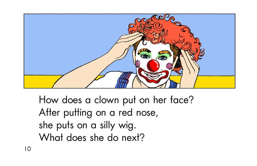 Book Preview For A Clown Face Page 10