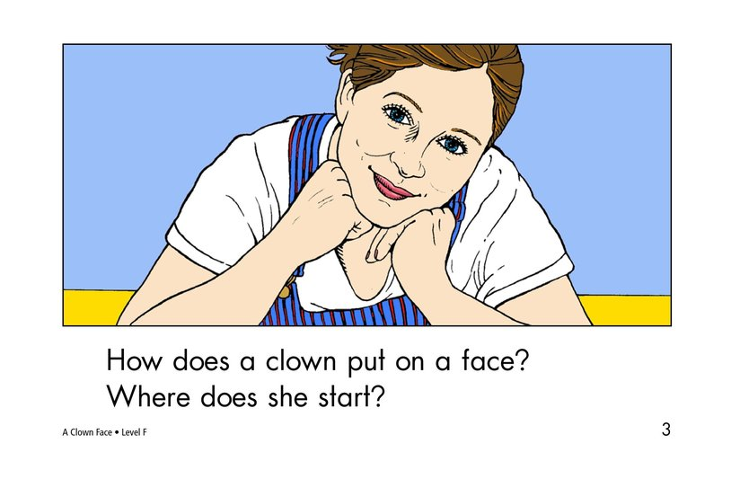 Book Preview For A Clown Face Page 3