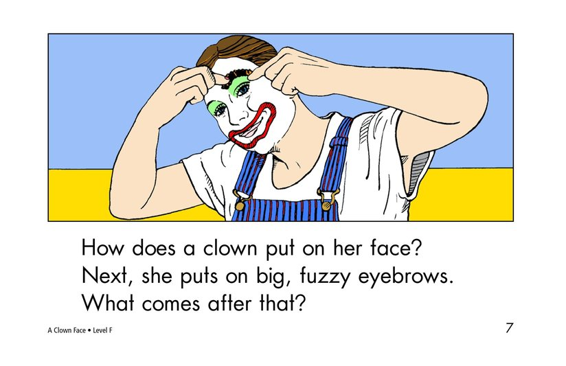 Book Preview For A Clown Face Page 7
