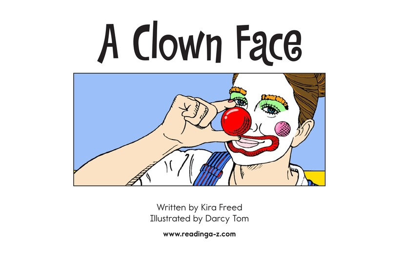 Book Preview For A Clown Face Page 2