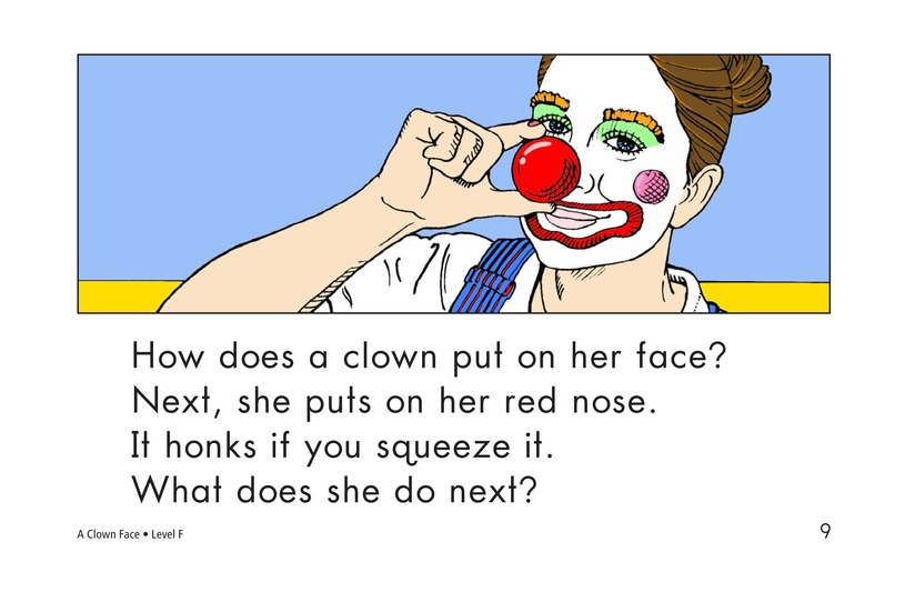 Book Preview For A Clown Face Page 9