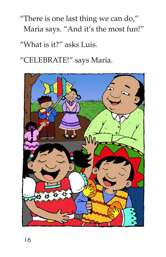 Book Preview For Maria's Family Celebration Page 16