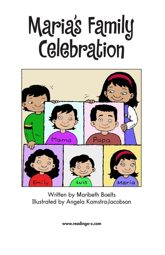 Book Preview For Maria's Family Celebration Page 2