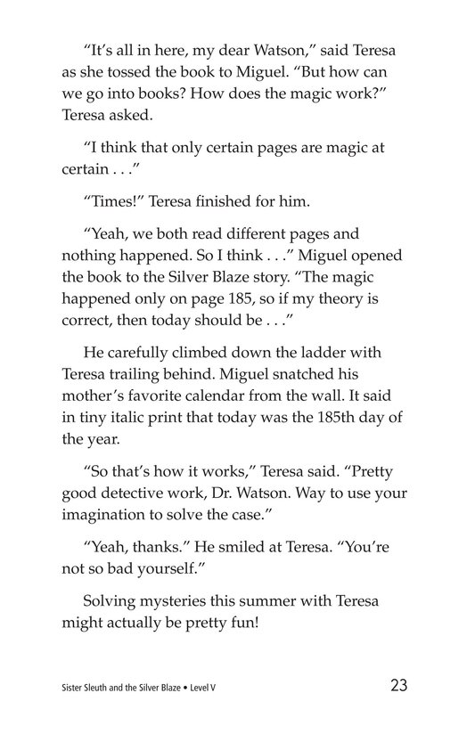 Book Preview For Sister Sleuth and the Silver Blaze Page 23
