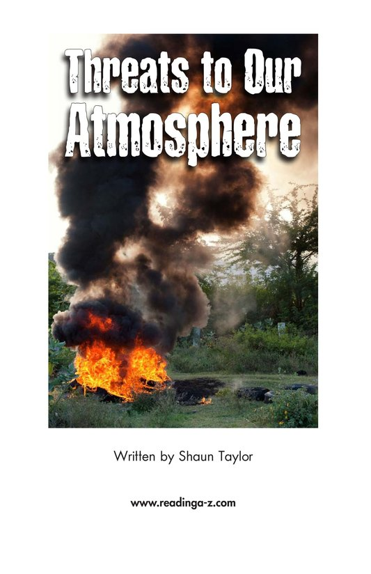 Book Preview For Threats to Our Atmosphere Page 2