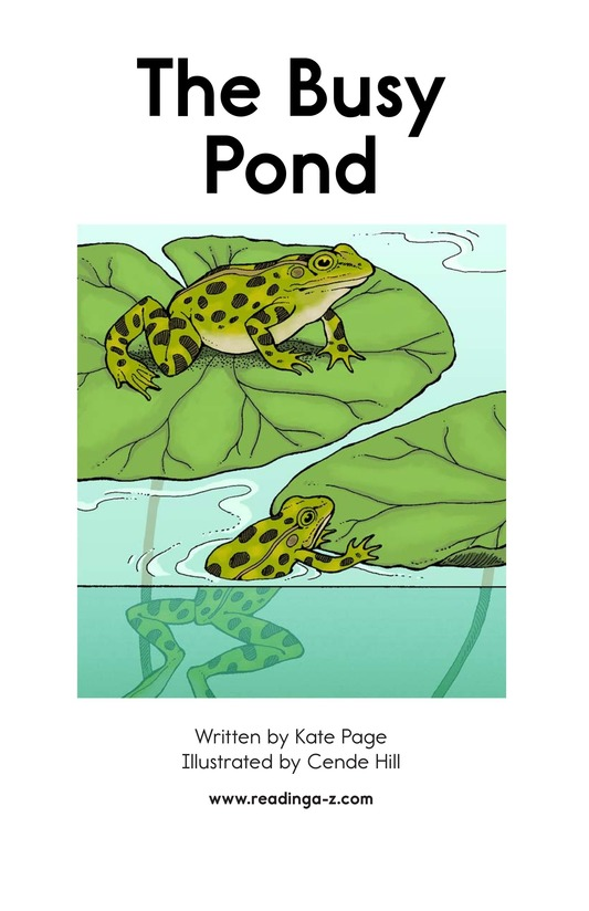 Book Preview For The Busy Pond Page 2