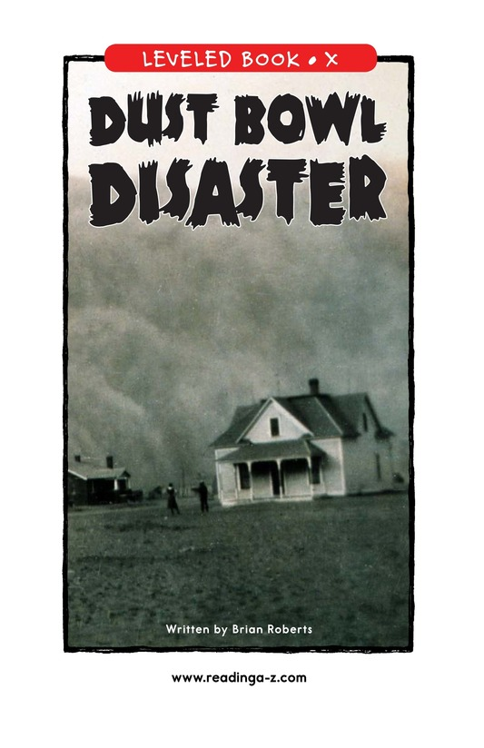 Book Preview For Dust Bowl Disaster Page 1