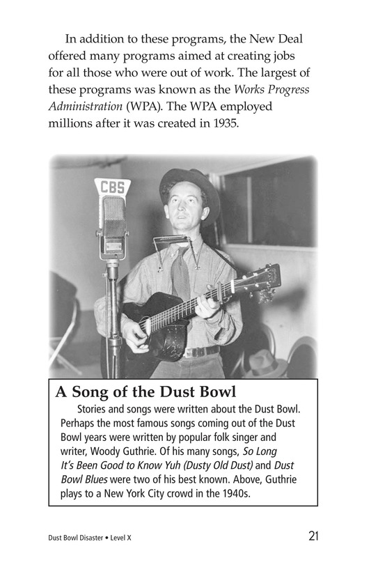 Book Preview For Dust Bowl Disaster Page 21