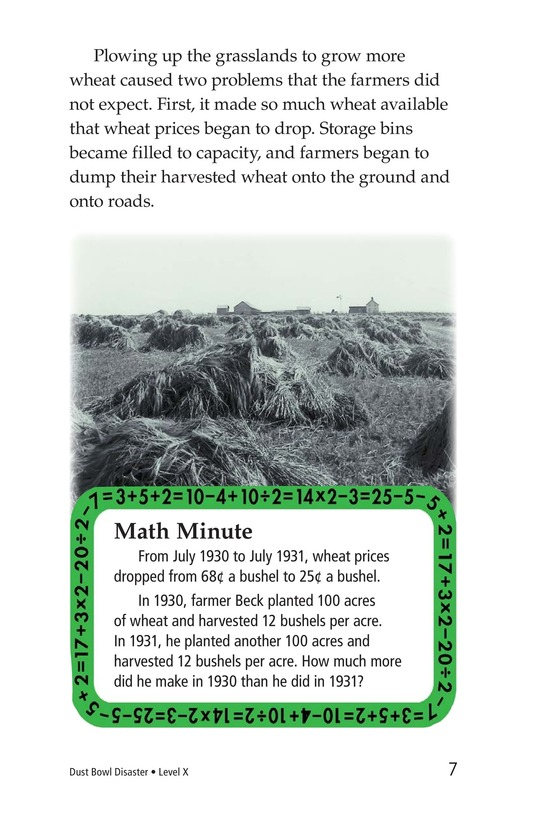 Book Preview For Dust Bowl Disaster Page 7