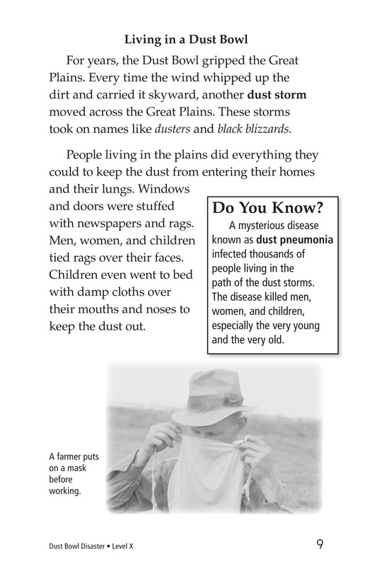 Book Preview For Dust Bowl Disaster Page 9