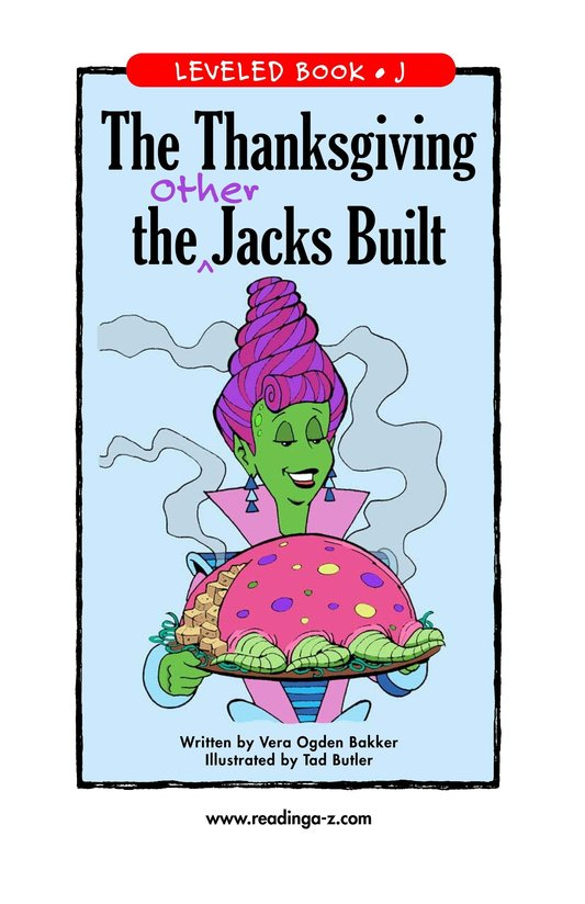Book Preview For The Thanksgiving the Other Jacks Built Page 1