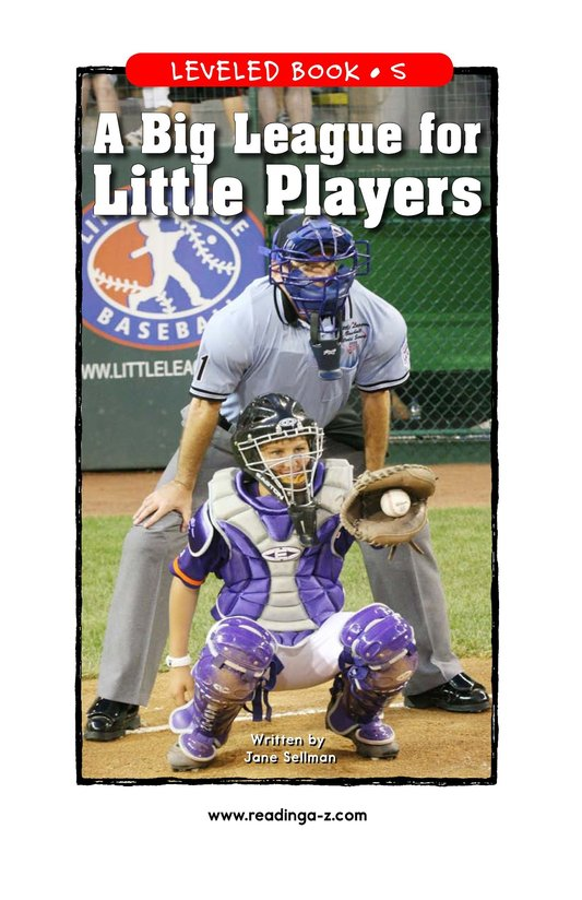 Book Preview For A Big League for Little Players Page 1