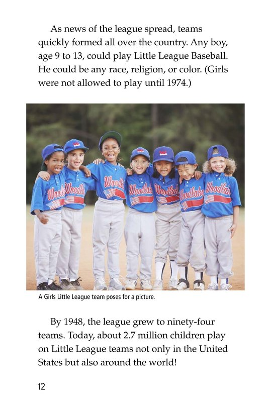 Book Preview For A Big League for Little Players Page 12