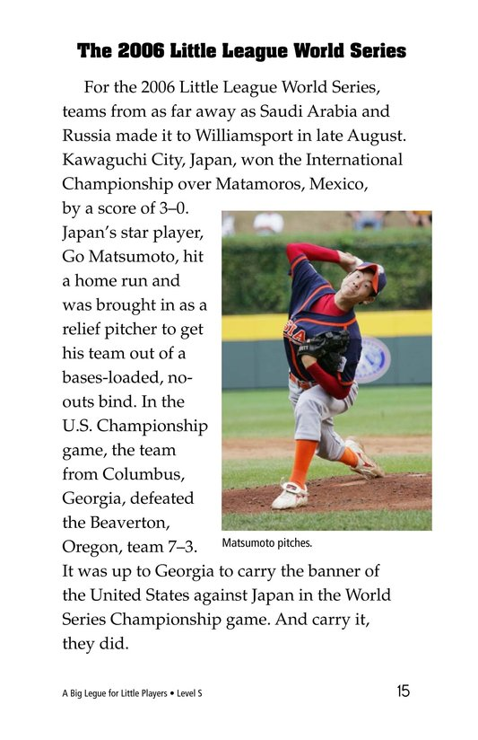 Book Preview For A Big League for Little Players Page 15