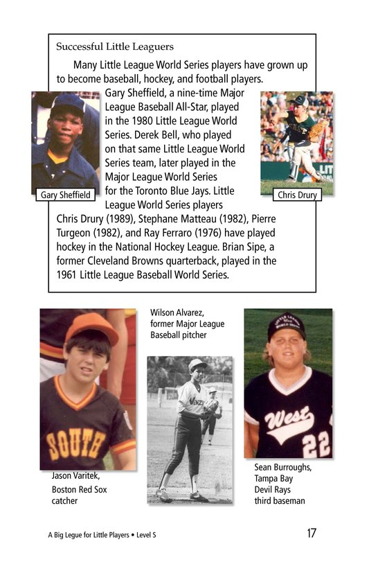 Book Preview For A Big League for Little Players Page 17