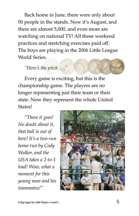 Book Preview For A Big League for Little Players Page 5